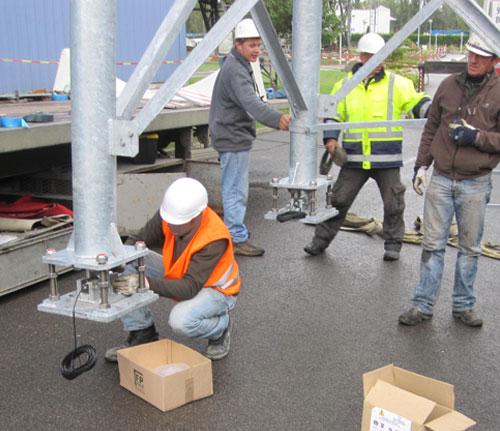 Montage capteur de pesage sur site